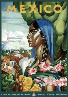 TT45 Vintage Mexican Mexico Travel Tourism Poster Print A3 A2