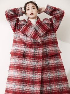 OVER SIZE A LINE MOHAIR COAT