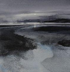Naomi Tydeman Moonrise over Monkstone Point