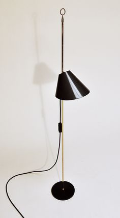"""Monachella Lamp Luigi Caccia Dominioni, for Azucena, 1953 Coated Aluminum, Brass, Iron (6 1/4"""" x 6 1/4"""" x 47 1/4"""")"""