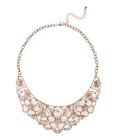 Another great find on #zulily! Goldtone Lace Flower Collar Necklace by Embassy Jewels #zulilyfinds