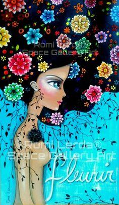 Romi Lerda - artista plastica Rasta Art, Arte Pop, Whimsical Art, Illustrations, Face Art, Art Tutorials, Mixed Media Art, Painting Inspiration, Art Girl