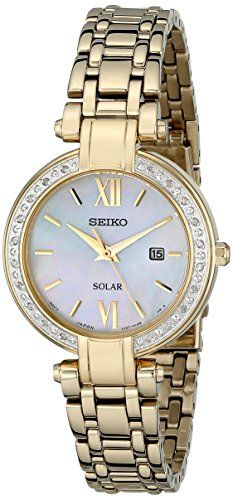 Seiko Womens SUT182 Analog Display Japanese Quartz Gold Watch * Check out this great product.