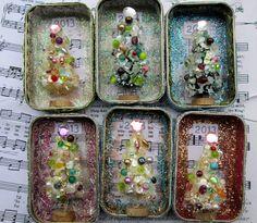 Altered Altoid Tin Ornaments