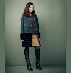 【NEW】麻生久美子さんが着る、冬のクラッシック - STYLE LOOK