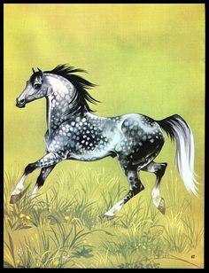 """Vintage 1978 """"The Dappled Gray Horse"""" Art by Janet Anne Grahame Johnstone   eBay"""
