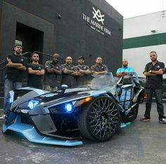 Polaris Slingshot ♡ tricked out top of the line most inventive car for 2015