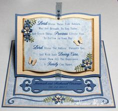 Kreative Korner By Kelly: Two Very Special Cards Fancy Fold Cards, Folded Cards, Baptism Cards, Christening Card, Christian Messages, Spellbinders Cards, Scrapbook Cards, Scrapbooking, Scripture Cards