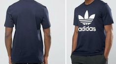 Men's adidas Originals TREFOIL TEE INK BLUE AY7710                    The adidas Originals Trefoil Tee puts the Trefoil logo front and centre in a bold contrast colour to show off adidas pride. This men's t-shirt has a regular fit and a cotton single jersey build for a comfy fit and feel.      Ribbed crewneck  Contrast Trefoil logo on front  Large contrast Trefoil logo on the front  Regular fit  100% cotton single jersey  Machine wash up to 40°, tumble dry low, iron on medium but…