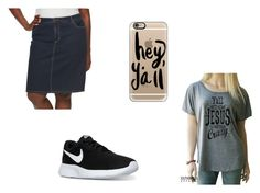 """y'all"" by maggiebearce ❤ liked on Polyvore featuring Croft & Barrow, NIKE and Casetify"