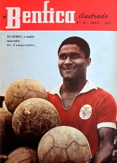 Eusebio, SL Benfica.  Source: O Benfica Ilustrado, April 1964.