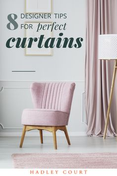 Learn 8 designer do's and don'ts for choosing curtains, textures, opacity and lengths: standard curtain lengths: apron, sill, floor length and puddle curtains. Tap to see how to choose the right curtains for your space! #curtains #windowdrapes #interiordesign
