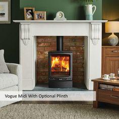 Stovax Vogue Midi Wood Burning With Plinth