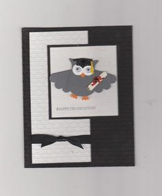 stampin up graduation cards | Stampin Up Graduation Owl Punch Handmade Card