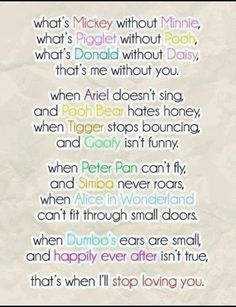 cute disney love quotes sayings sweet Friendship Quotes Disney Amor, Disney Cute, Cute Disney Quotes, Disney Poems, Disney Sayings, Disney Style, Funny Disney, Disney Quotes About Love, Dumbo Quotes