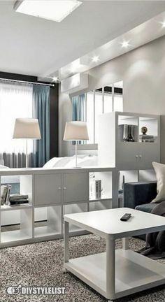Condo Interior Design, Small Apartment Interior, Small Apartment Design, Small Room Design, Home Room Design, Room Interior, Small Studio Apartments, Modern Apartments, Apartment Ideas