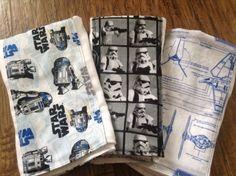 Star Wars baby burp cloth set  premuim diaper R2D2 stormtrooper six ply manly husband friendly