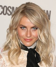 Julianne Hough Long Wavy Hairstyle. Try on this hairstyle and view styling steps! http://www.thehairstyler.com/hairstyles/formal/long/wavy/Julianne-Hough-big-beautiful-hairstyle-with-bangs