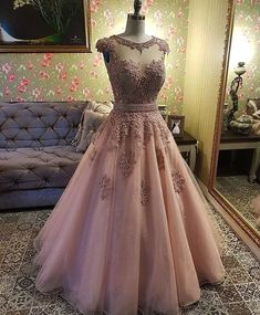 A Line V Neck Prom Dress with Lace Appliques, Cheap Tulle Party Dress with Beading Cute Prom Dresses, V Neck Prom Dresses, Grad Dresses, Ball Dresses, Pretty Dresses, Beautiful Dresses, Sweet Sixteen Dresses, Sweet 16 Dresses, Quince Dresses