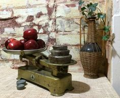 Vintage Kitchen Scales ~ chipped to perfection