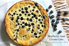 Blueberry Sour Cream Cake | THM: S - Northern Nester