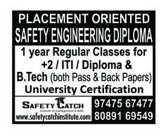 Are you looking for a Industrial Safety Engineering Diploma courses? Safety Catch Institute gives you the Best platform. Grab the Opportunity! Safety Management System, Grab The Opportunity, Safety Courses, Industrial Safety, Diploma Courses, Safety Training, Health And Safety, Workplace, Engineering