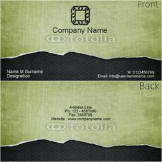 Two sided business card.  Ripped paper, carbon fiber, green and black.  Customizable to suit your needs.  Watermark does not print on finished product.