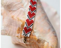 Grano telar Ajustable-corazones pulsera artesanal joyas de Bohemia pulsera semilla grano pulsera Hippie mujer pulsera pulsera