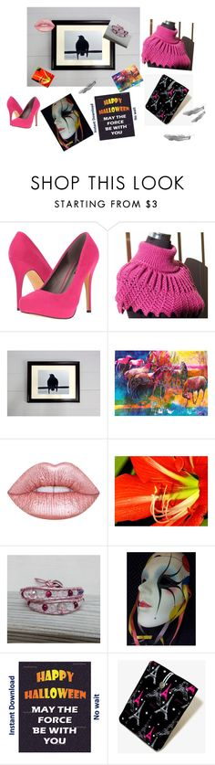 """""""Halloween"""" by galina-780 ❤ liked on Polyvore featuring Michael Antonio and Lime Crime"""