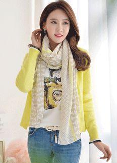 Feminine Cardigan from Styleonme.  Korean Fashion, Women Fashion, Feminine Look, Classy Look, Office Look, Lovely, Romantic, High Quality, Gorgeous Look, S/S 2015, Style On Me, Louis Angel, Winter Styling en.styleonme.com www.facebook.com/StyleonmeEn