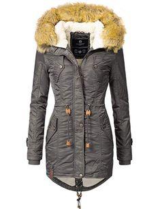 Navahoo Marikoo Damen WinterJacke Stepp Parka Mantel Jacke Warm Army Camouflage