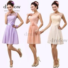 2015 Short Bridesmaid Dresses Junior Party Prom Formal Dress drnfow-80  Sleeveless A-Line ef4f50d262a5