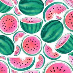 Summer Watermelon Pattern © magrikie