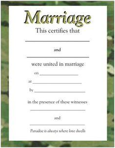 camo border marriage certificate httpwwwebaycomusr