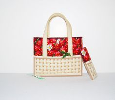 Vintage Handbag Strawberry Basket by CheekyVintageCloset on Etsy, $24.00