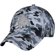 3f146450dd7 Men s Chicago Blackhawks Fanatics Branded Camo Gray Urban Trucker  Adjustable Hat