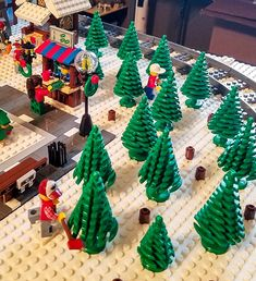 LEGO Christmas Village and Snow Resort 2017 - Lego ideas - Train Under Christmas Tree, Lego Christmas Village, Lego Winter Village, Lego Village, Christmas Tree Farm, Christmas Crafts, Christmas Mantles, Christmas Villages, Christmas Christmas