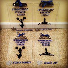 Cheer coach gifts - vinyl clipboards