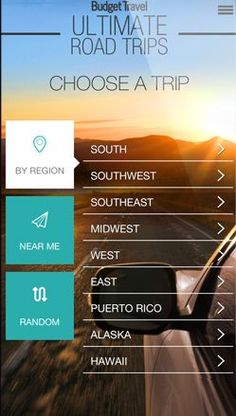 Budget Travel's Ultimate Road Trips App | Travel Deals, Travel Tips, Vacation Ideas | Budget Travel