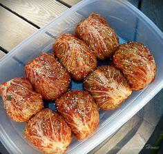 보쌈김치 쉽게 만들기 - JJB의 세상사는 이야기 Banchan Recipe, Korean Side Dishes, K Food, Aesthetic Food, Korean Food, Lunches And Dinners, Food Design, Food Plating, Asian Recipes