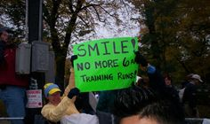 Smile no more 6 am training runs and other fun motivational race signs at this site