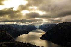 Norvège, Fjord, Lysefjord, Water, Montagne, Rivière