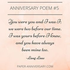 Romantic things to say on your anniversary