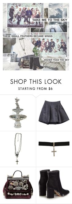 """""""BTS - Wings"""" by anniiebee ❤ liked on Polyvore featuring Fountain, Diane Von Furstenberg, Forever 21, Gathering Eye, Dolce&Gabbana and Gianvito Rossi"""