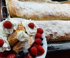 Tradičná jablková štrúdľa Pancakes, French Toast, Cheesecake, Breakfast, Ethnic Recipes, Desserts, Food, Basket, Morning Coffee