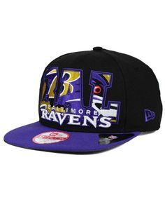 New Era Baltimore Ravens Big City 9FIFTY Snapback Cap Men - Sports Fan Shop  By Lids - Macy s 99fecdb7acf