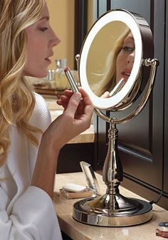 Touch Light Vanity Mirror | Can also purchase these kinds of mirrors at Target, Walmart, Bed Bath & Beyond, Amazon, Best Buy