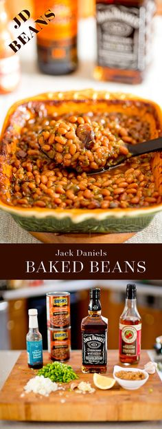"Easy Jack Daniels spiked smokey baked beans.  Enriched with sugar and ""spice"" and everything nice! :)"
