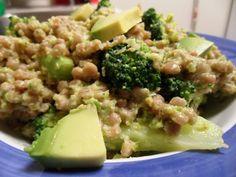 whole wheat pearl couscous salad with pistachio-broccoli pesto