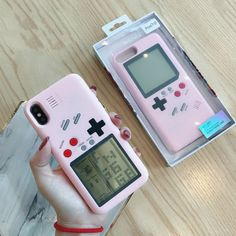 Pink Gameboy iPhone Case - 10 games included! – NotebookTherapy Diy Iphone Case, Floral Iphone Case, Marble Iphone Case, Cool Phone Cases, Iphone Phone Cases, Iphone 7 Plus Cases, Phone Covers, Iphone 8, Samsung Cases